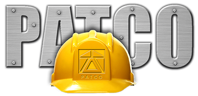 Patco Commercial Construction Logo with Helmet