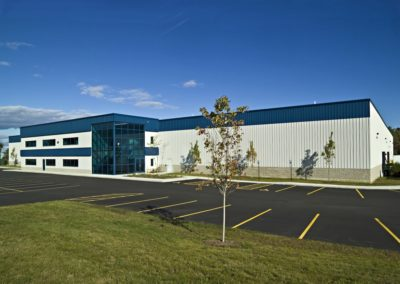 Sigco glass Steel building designed by Patco Commercial Construction, ME